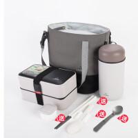 便当盒可爱双层日式饭盒可微波炉便当盒 学生午餐盒保温套装进口材质