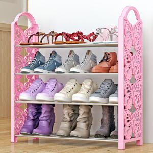 亚思特铁艺简易鞋架 多层收纳鞋柜简约组装防尘鞋架子XJH164