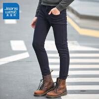 [超级大牌日每满299-150]真维斯休闲裤男装2018冬装新款男士弹力紧身小脚裤时尚韩版长裤子