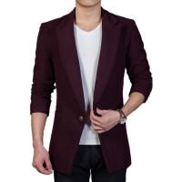 2018 新款 呢子西服男士中长款韩版修身时尚潮流帅气小西装外套性感潮流