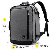 新款男士多功能双肩包商务17寸电脑大容量旅行包出差多功能防盗背包男