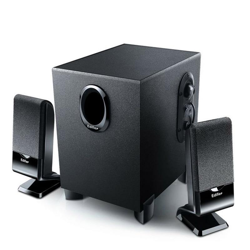 EDIFIER漫步者 R101V多媒体电脑2.1有源音箱低音炮黑色桌面音箱 仰角设计 喇叭防磁 一体设计