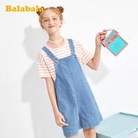 【品类日4件4折】巴拉巴拉童装儿童裤子女童短裤夏装中大童牛仔背带裤洋气