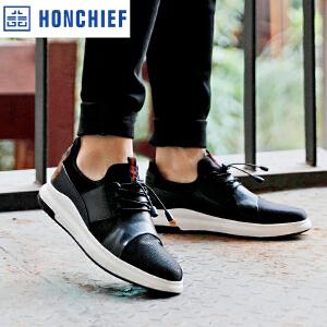 HONCHIEF 红蜻蜓旗下春季新款青春时尚舒适织物透气板鞋流行男鞋