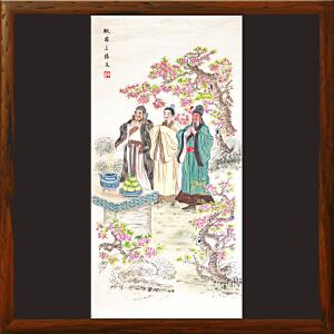 《桃园三结义》国家非物质文化遗产,带证书,李岩蓉手绘扑灰年画(001)