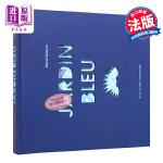 【法国法文版】蓝色花园 立体纸雕书 法文原版 Jardin bleu Elena Selena 法国进口正版 精细剪纸