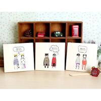 韩国文具学生用品可可王国涂鸦本空白记事本办公笔记本手绘素描本
