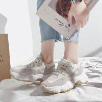 韩版百搭学生休闲网红跑步运动女鞋老爹鞋女春季新款厚底原宿