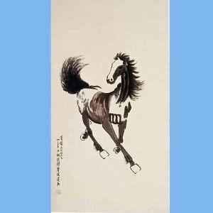 现代画家,美术教育家,建国后任中央美术学院院长,中华全国美术工作者协会主席徐悲鸿(1马2)