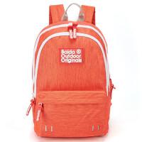 双肩背包女士韩版中学生书包纯色双肩大容量包女孩学院风休闲