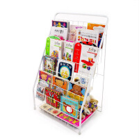 儿童书架铁艺杂志架绘本架书报置物架落地报刊架展示架6层