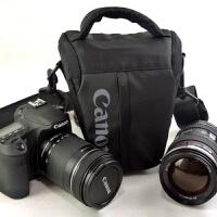 0307220113764佳能单反相机包三角包EOS60D 6D7D 70D80D 5D2 5D3便携单反包腰包