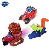 伟易达变形恐龙3代恐龙 加极速发射器玩具火山爆发恐龙三件套