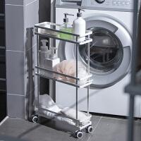 浴室用品夹缝置物架落地式多层卫生间多功能沐浴露收纳架子 (夹缝架)白色