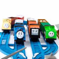 奋发托马斯火车头声光电动小火车轨道车模3456儿童益智玩具