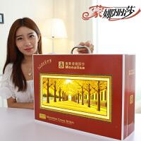 蒙娜丽莎十字绣黄金满地2米3米全景印花线绣新款客厅风景