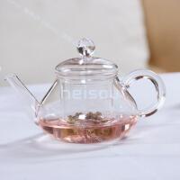 玻璃花茶壶泡茶壶带过滤壶花草茶具花茶壶套装过滤透明玻璃泡茶壶加热花果茶花茶杯