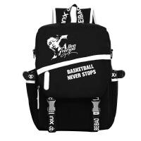 篮球明星夜光艾弗森双肩包 体育运动男女学生潮书包帆布包