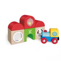 【特惠】Hape火车站多用积木套18个月以上火车轨道玩具配件儿童早教益智启蒙婴幼玩具木制玩具E3802