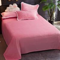 君别毯子床单加厚冬季法兰绒毛毯床单女学生宿舍单人床男加厚珊瑚绒被单