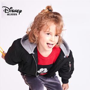 迪士尼宝宝森林探险男童梭织经典棉服2018冬款上新