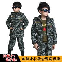 童装男童秋装2017新款儿童迷彩服套装宝宝加厚加绒小孩运动军装