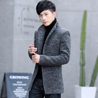 冬季韩版修身中长款加绒加厚妮子毛呢外套男羊毛呢子大衣男士风衣