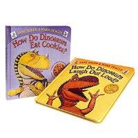 送音频 家有恐龙 学乐低幼系列纸板书2册How Do Dinosaurs Eat Cookies?