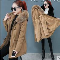 冬季新款韩版宽松羽绒棉衣棉袄工装外套潮中长款派克棉服女