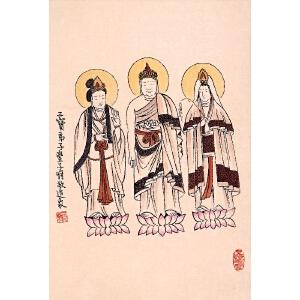 丰子恺  三宝弟子造像