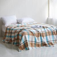 商场同款纯棉毛巾被办公室午睡毯毛巾毯棉单双人毛毯被子薄毯盖