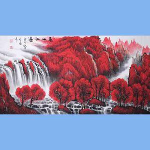 中国青年美术家协会常务理事,中国山水画院专业画家,国家一级美术师高云鹏(万山红遍)6