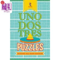 【中商海外直订】Uno, Dos, Tres Puzzles: Sudoku All Easy Edition
