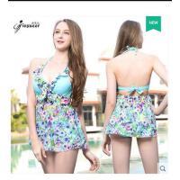 泳衣女分体裙式两件套短袖防晒小胸聚拢性感游泳衣女