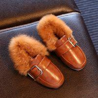 1-2-3周岁4女童5公主鞋子6棉鞋7小女孩8宝宝加绒季9毛毛皮鞋10 21 内长13cm