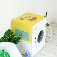 卡通洗衣机罩 清新卡通单开门冰箱防尘罩布艺家用多用盖巾床头柜盖布