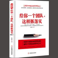 给你一个团队,这样抓落实 管理书籍领导力 带团队营销管理酒店餐饮物业管理书籍领导力团队管理方面的书籍中国式管理 管理类
