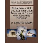 【预订】Richardson V. U.S. U.S. Supreme Court Transcript of Rec