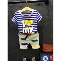 童装男童夏装套装8短袖2儿童牛仔短裤3周岁4男宝宝5两件套6岁7潮 图片色