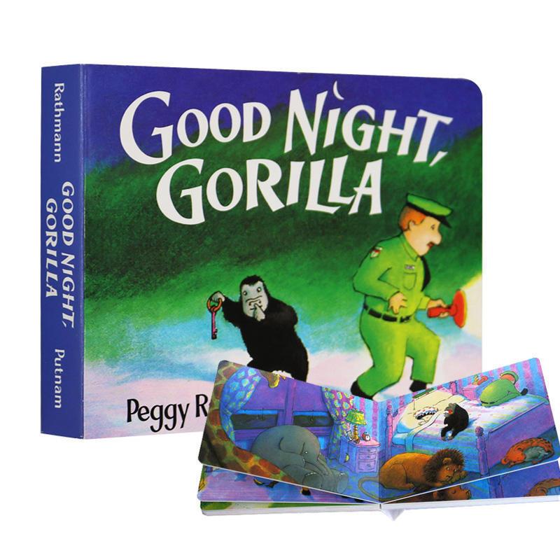 英文原版绘本Good Night Gorilla 晚安大猩猩纸板书 吴敏兰推荐书单 美国百本需读 晚安睡前读物 英语启蒙亲子读物 进口正版书