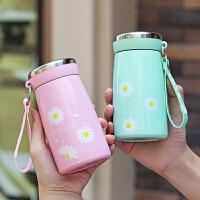 光一 保温杯子女可爱少女ins水杯儿童小学生小雏菊幼儿园便携日式水壶