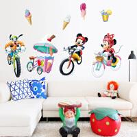 迪士尼正品 可爱贴纸儿童房装饰可移除墙贴 Minnie mickey