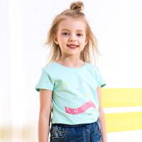 【99元3件】小猪班纳童装女童短袖T恤2019夏季新款中大童卡通上有儿童体恤潮
