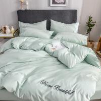 商场同款全棉四件套60支长绒棉床上套件1.8m被套床单学生宿舍三件套