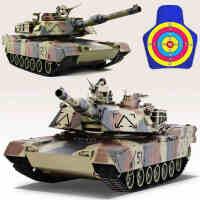 环奇遥控坦克车可发射子弹金属炮管充电对战坦克战车模型男孩玩具