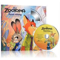 疯狂动物城英文原版 绘本 CD 迪士尼故事书 Zootopia Read-Along Storybook CD 有声读