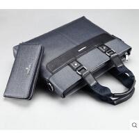 横款商务男士手提包 单肩包电脑包 斜挎包 公文包 休闲背包