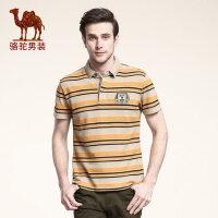 骆驼男装 新款短袖T恤 男士日常休闲圆领 t恤 夏季薄款