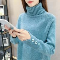 冬季新款套头加厚针织打底衫内搭长袖宽松高领毛衣女