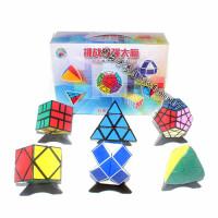 儿童礼物圣手异形魔方6个礼盒组合套装金字塔斜转五魔方魔尺玩具 圣手异形套装